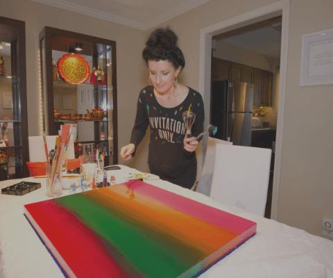 Abstract Art - Anna Szabo of Online Discipleship for Women
