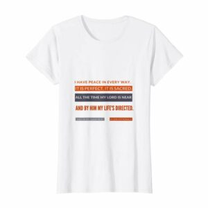 #52Devotionals I Have Peace – Christian Shirts by Anna Szabo – White Standard T-Shirt