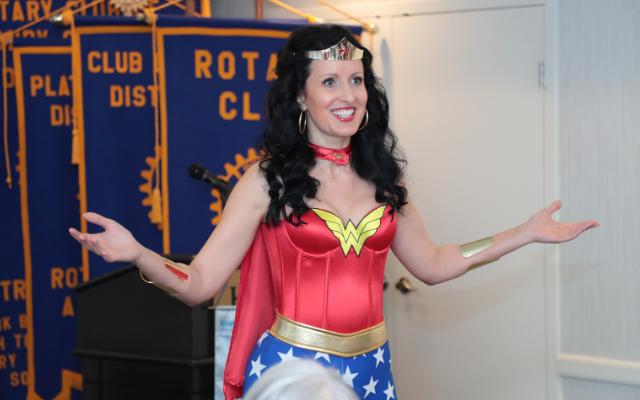 Encouraging Poetry - Anna Szabo Wonder Woman Speaker at Rotary International